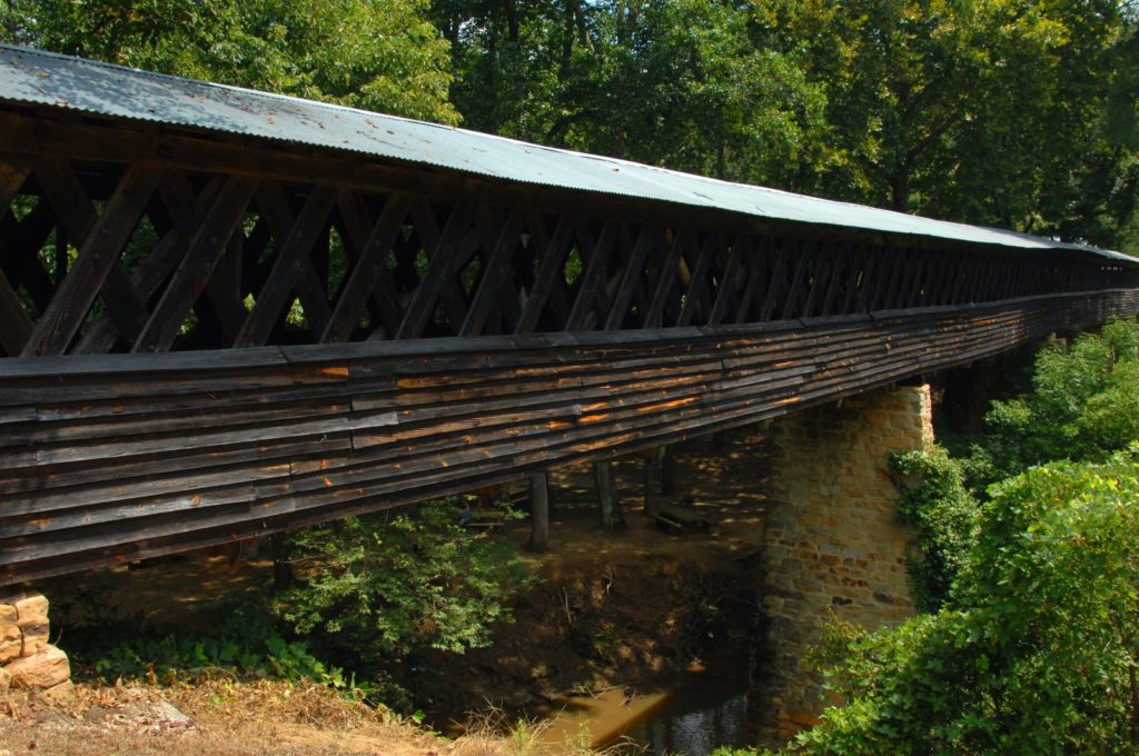 A covered bridge in Cullman Alabama