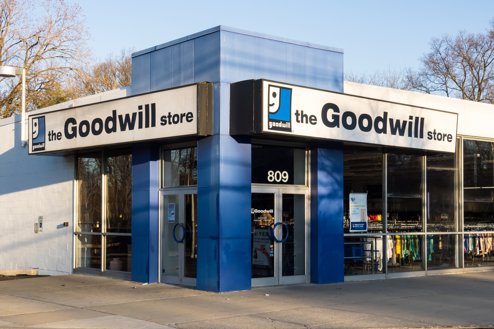 A Goodwill store on a corner