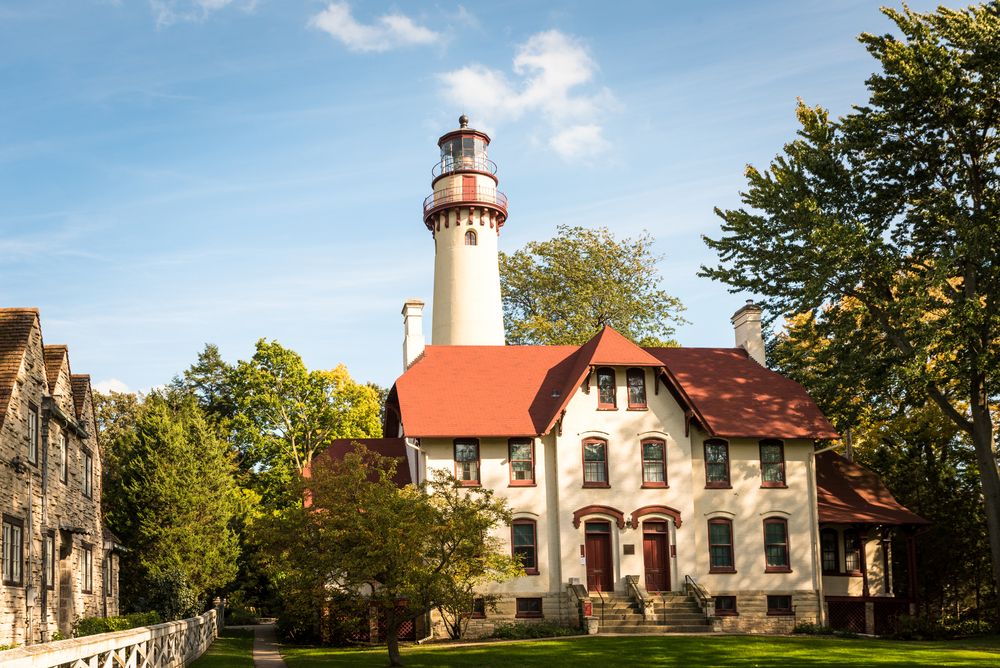 The historic Grosse Point lighthouse and building
