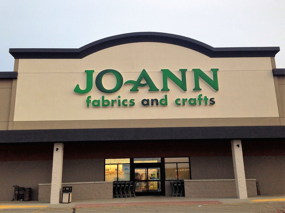The outside of a JOANN fabrics and craft store