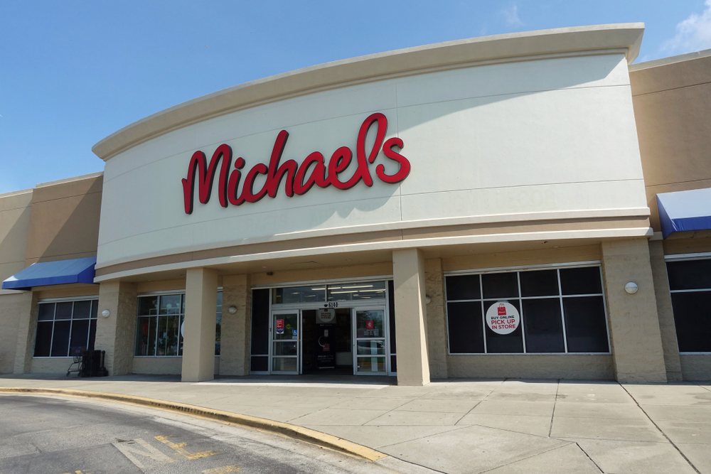 The outside of a Michael's store from a carpark