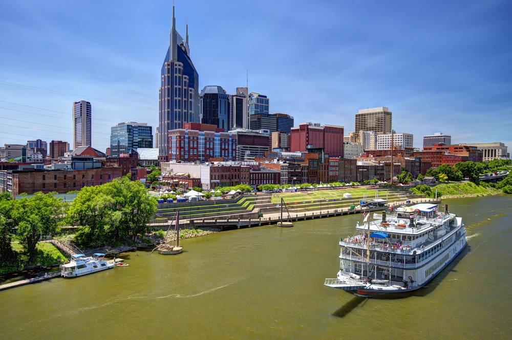 A ship on the river in Nashville Tennessee