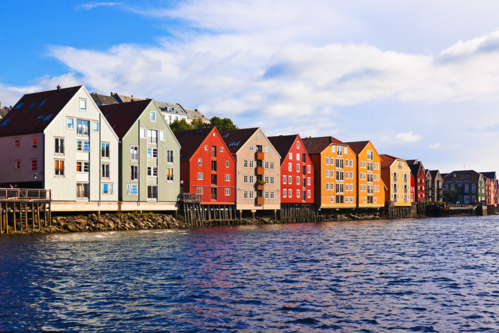 Norway houses are colorful.