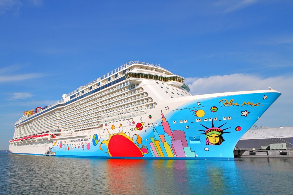 A ship from the Norwegian Cruise Line