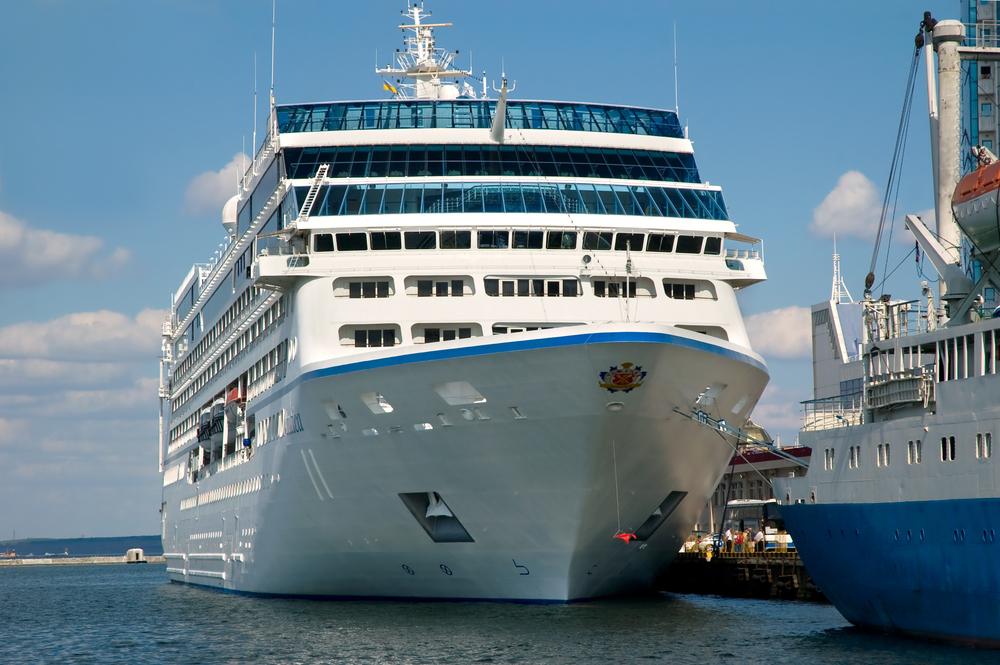 An Oceania cruise ship in port