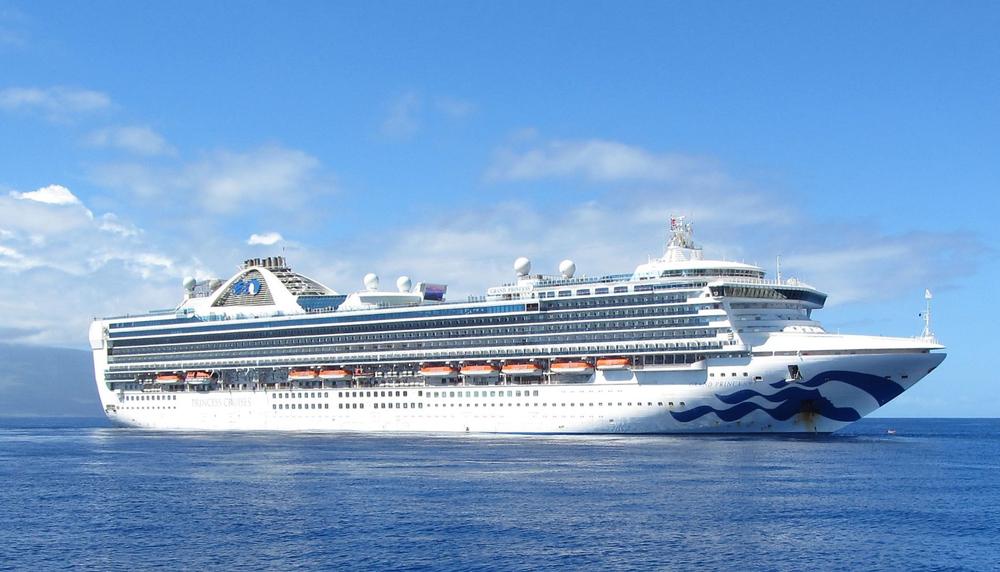 A Princess cruise ship in the Mediterranean sea