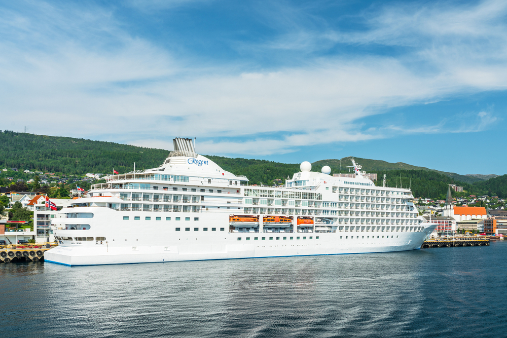 Regent cruise ship in Norway