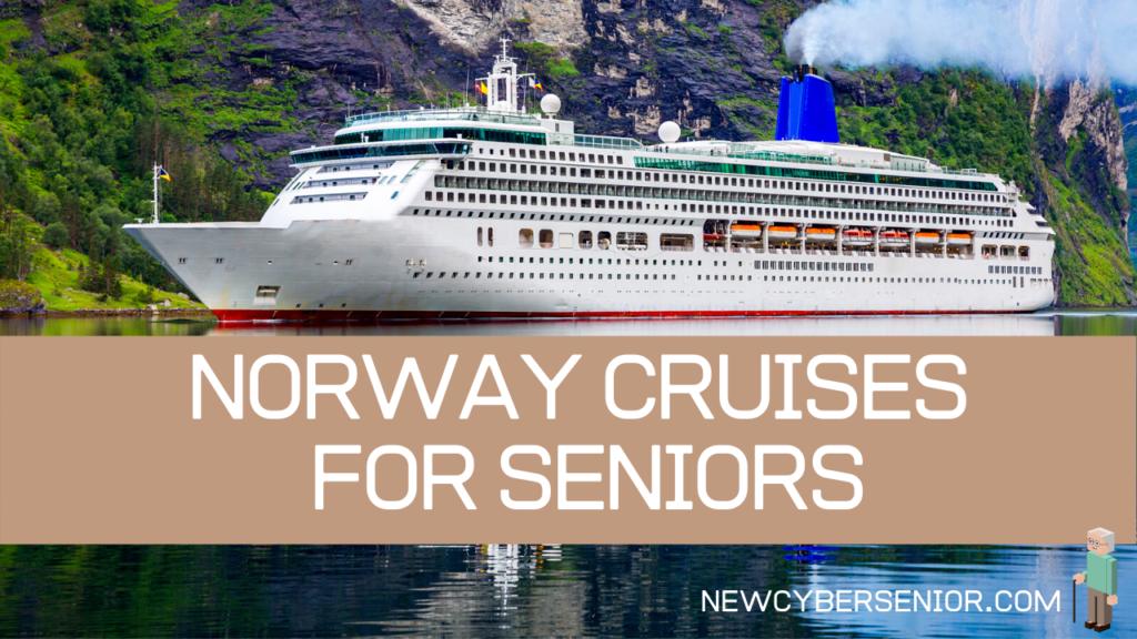 A large cruise ship traveling through Norway