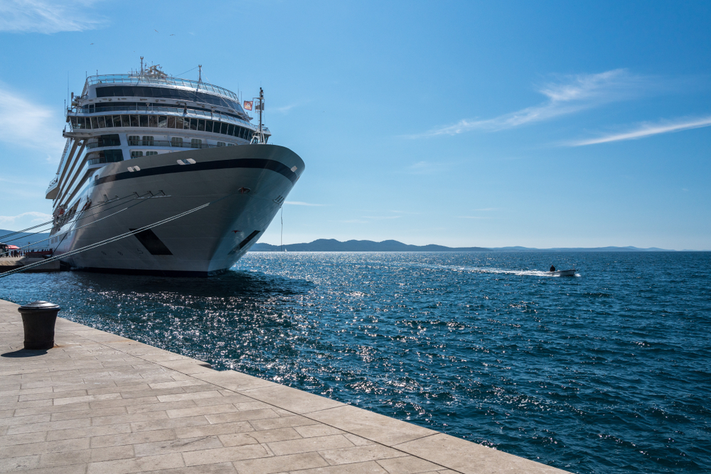 An image ferom the front of a Viking cruise ship