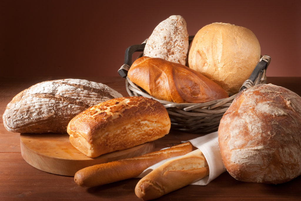 Different types of breads.