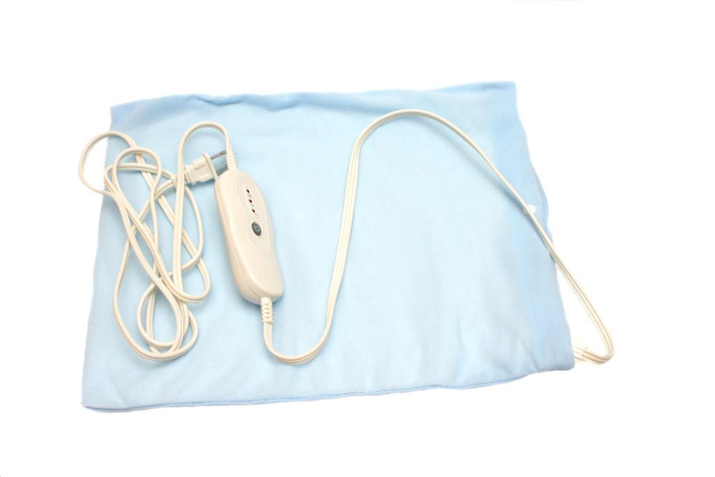 A plug-in heating pad.