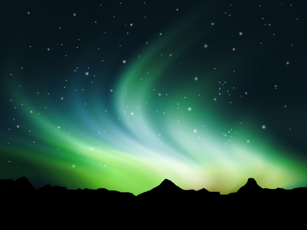 Northern Lights in the sky