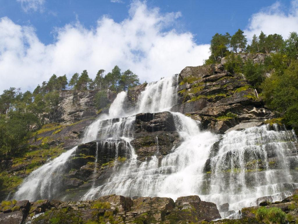 A Norwegian waterfall