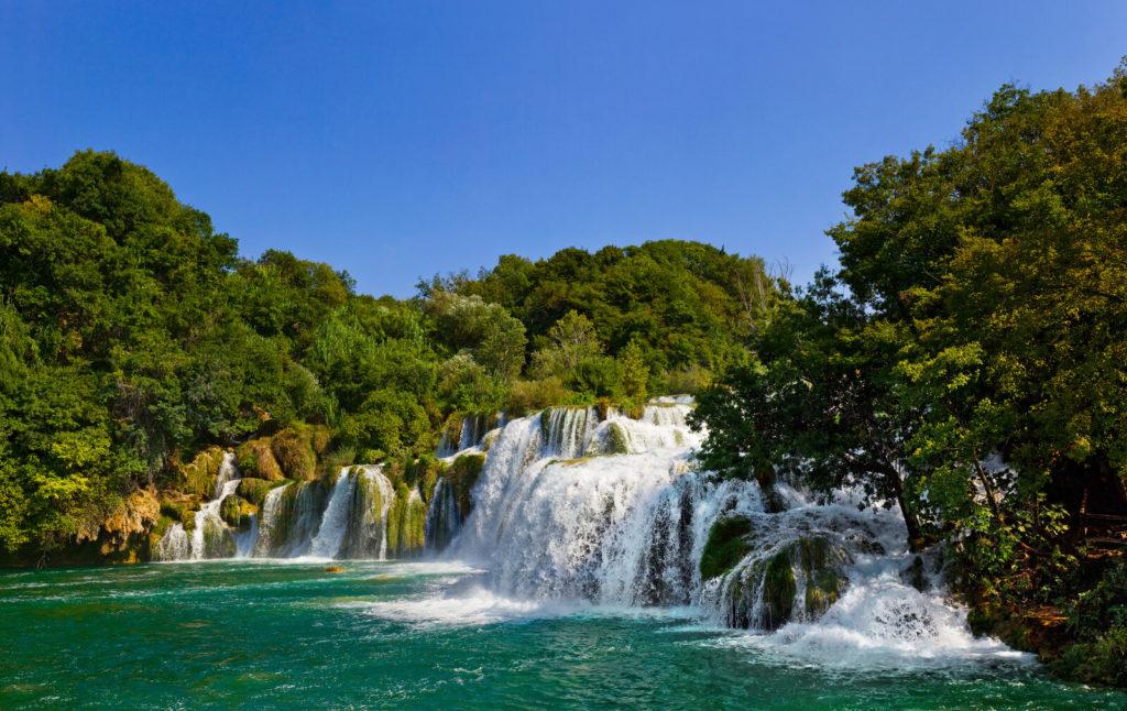 A waterfall in Croatia.