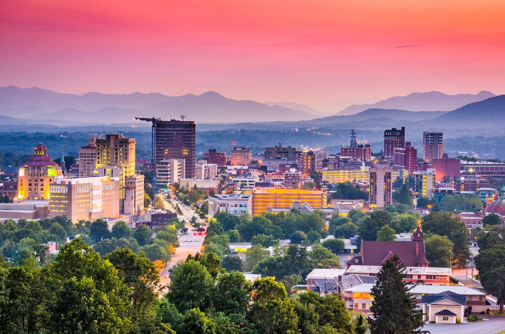 An image of Asheville at Twilight