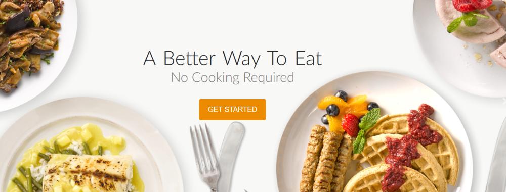 Balance Website Screenshot showing plates of food