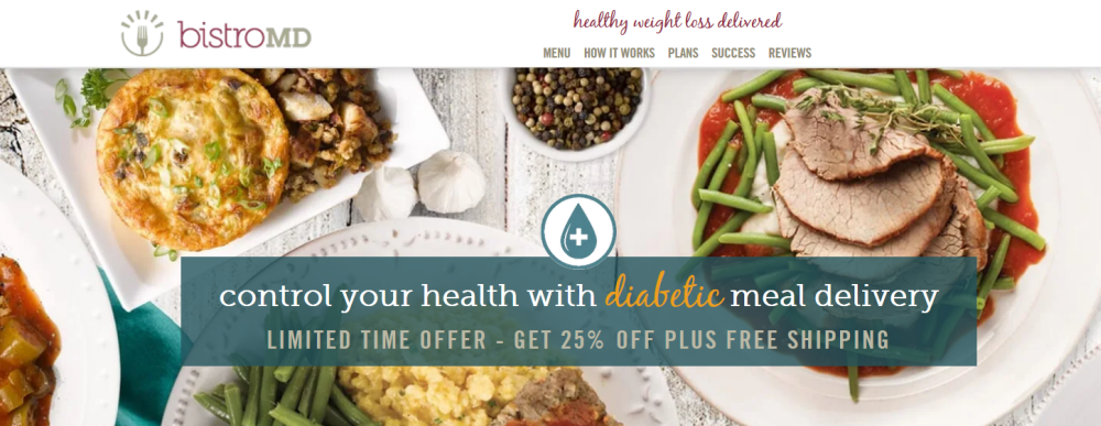 A screenshot from the BistroMD meal delivery site showing a selection of their meals
