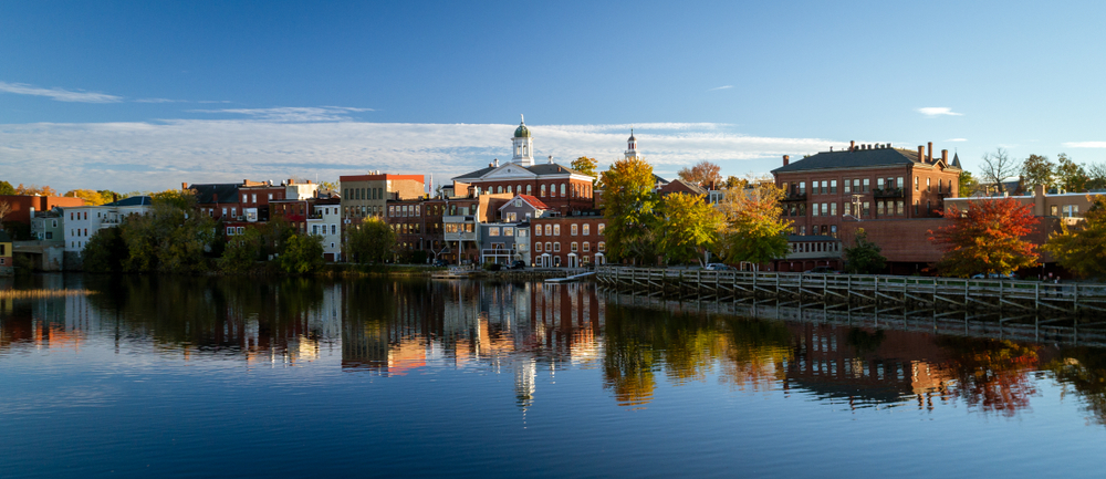 River front buildings in Exeter New Hampshire
