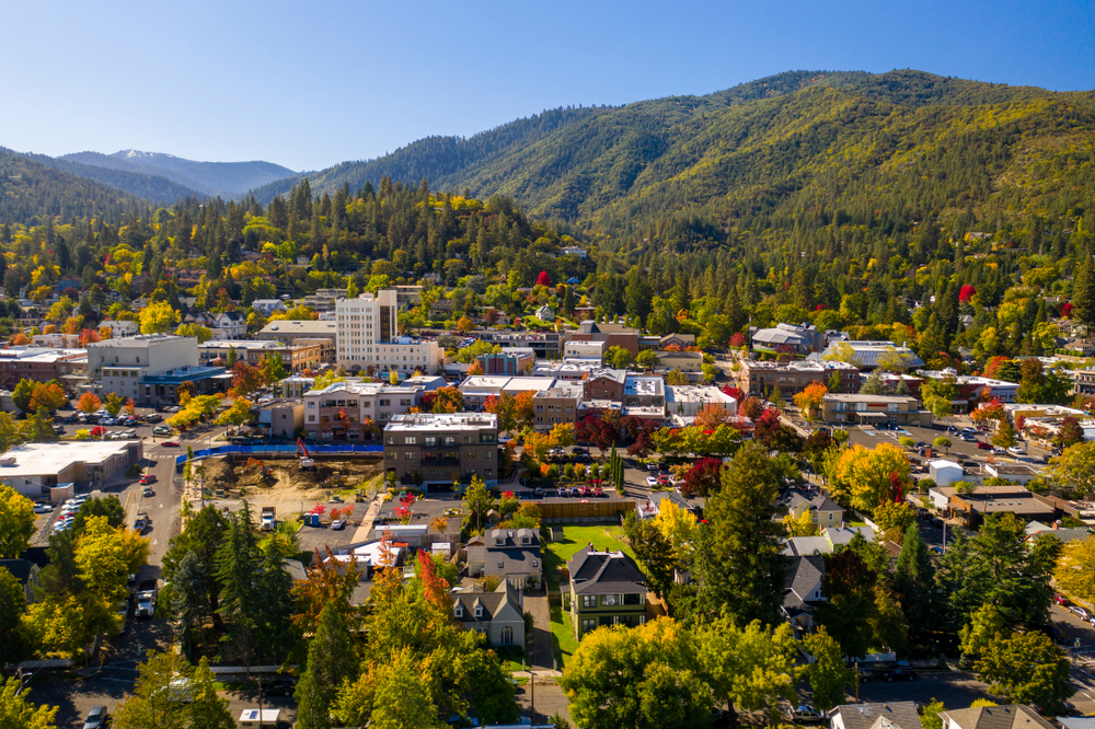 A view of the township in Ashland Oregon