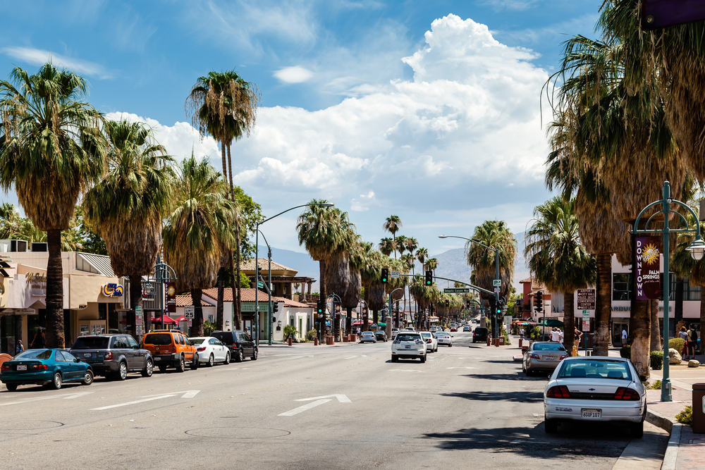 A city street in Palm Springs California