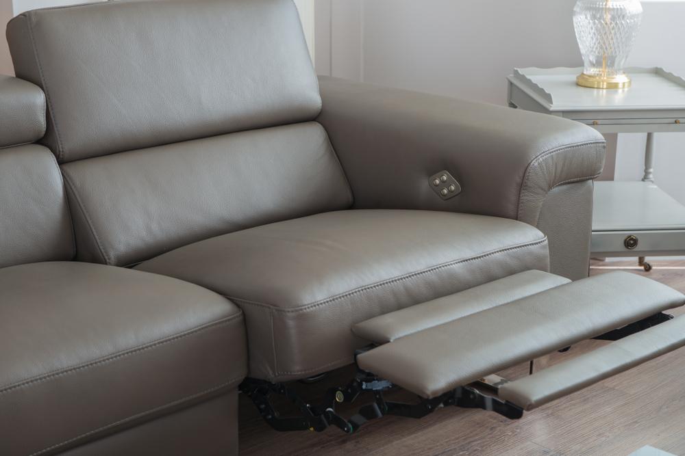 grey power recliner