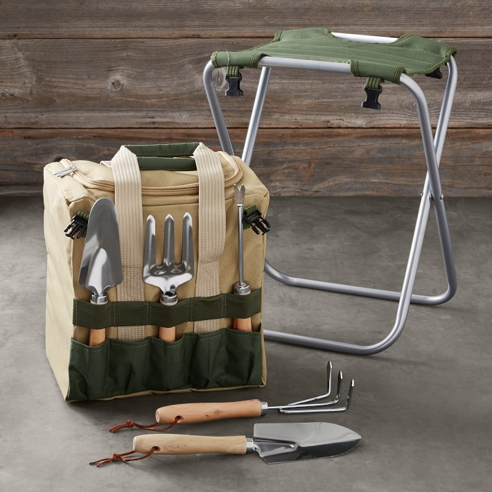 Williams-Sonoma Gardening Seat and Tool Kit