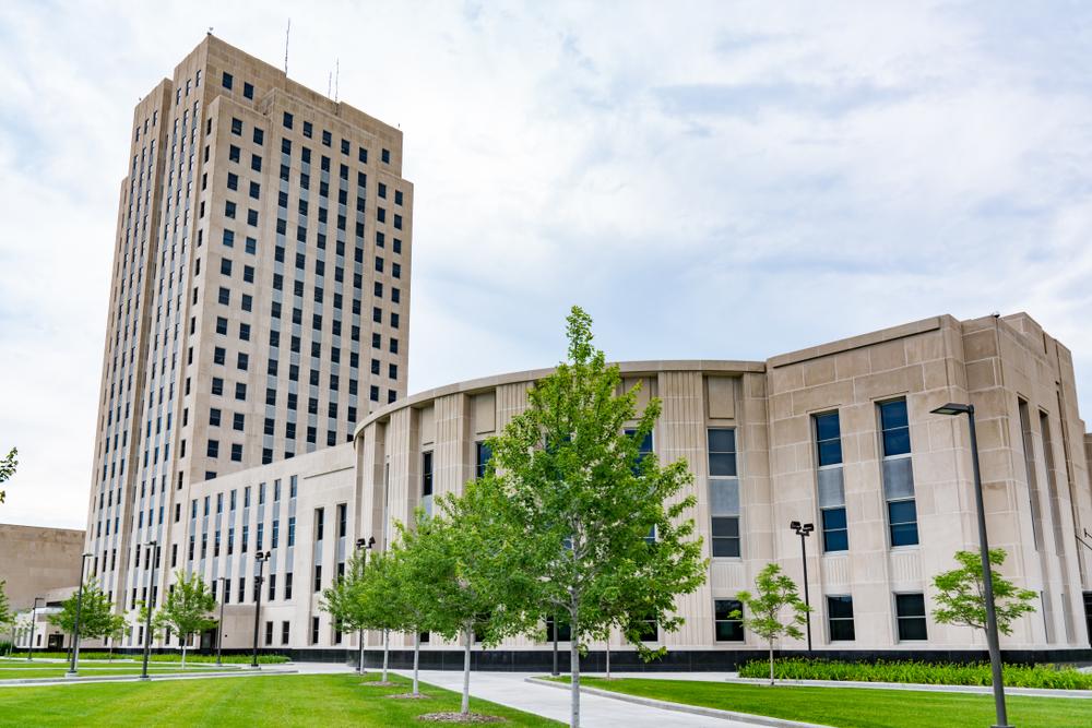 The capital building in Bismarck North Dakota