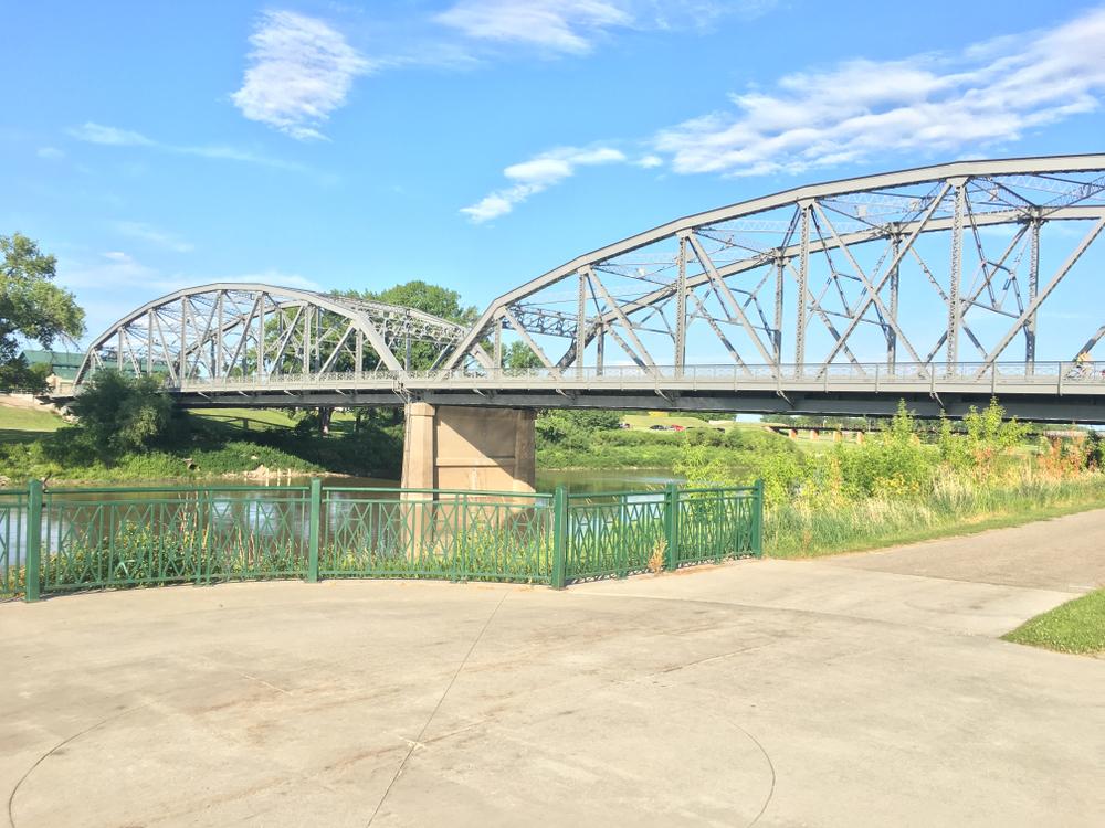 A bridge in Grand Forks North Dakota