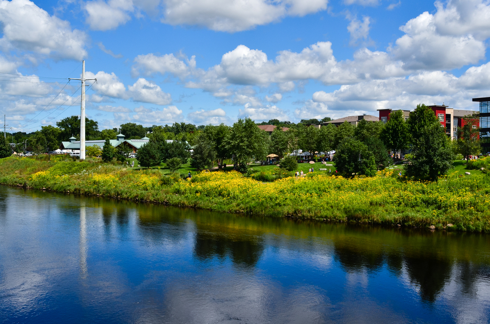 Eau Claire viewed from the river