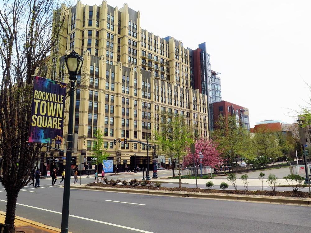 The town center in Rockville Maryland