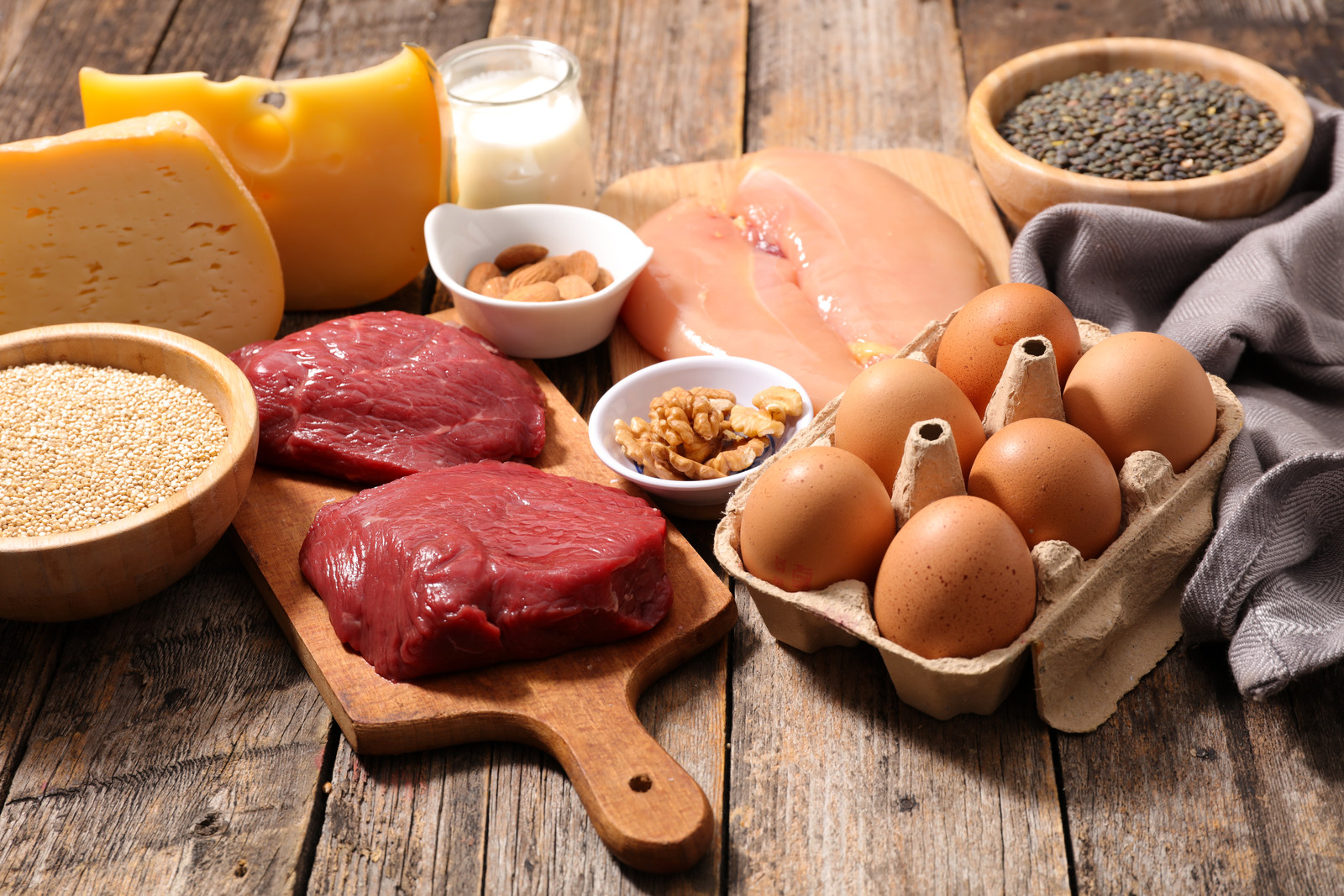 Glycine rich food sources, including cheese legumes red meat chicken and eggs