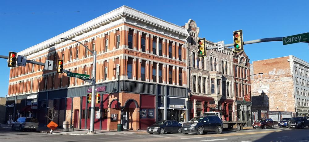A city street in Cheyenne Wyoming