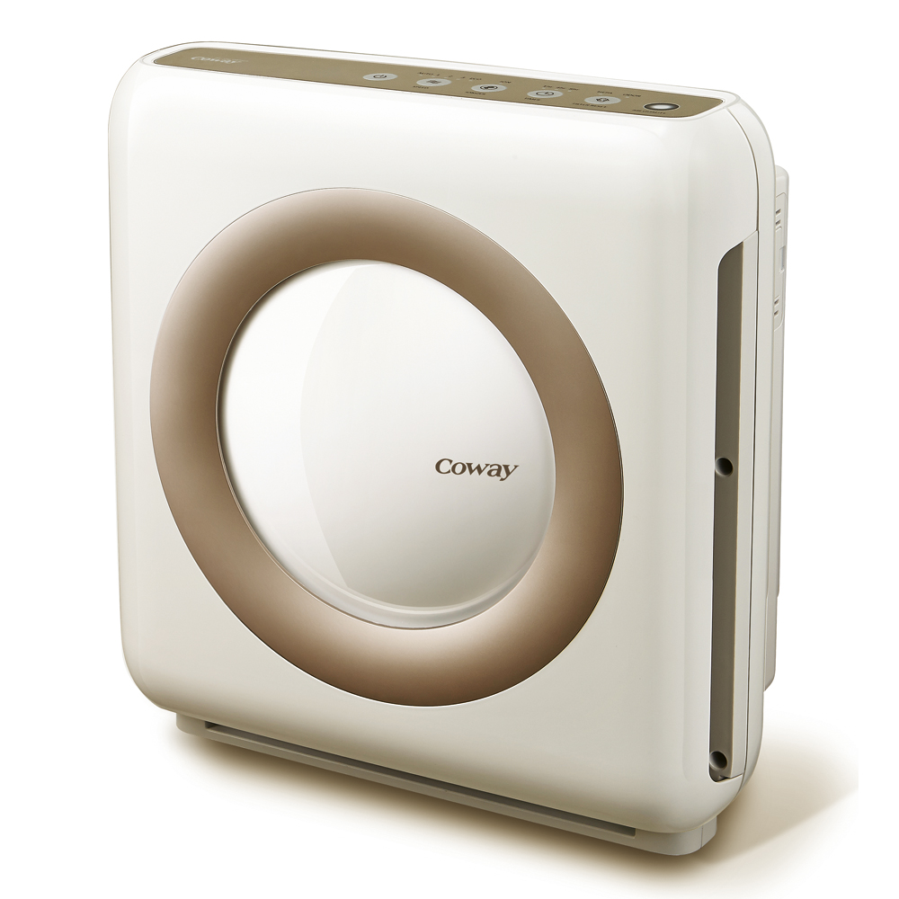 A Coway AP-1512 Mighty Air Purifier isolated on white with a shadow