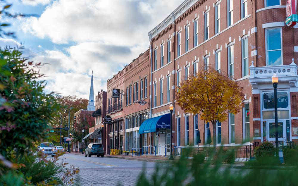 A street in Bentonville Arkansas