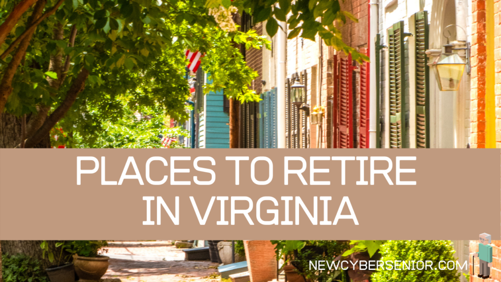 A city in Virginia where there is a green tree on one side and brightly colored buildings on the other