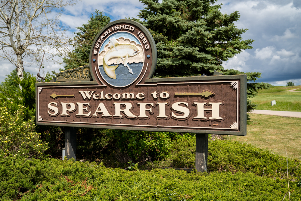A sign saying Welcome to Spearfish