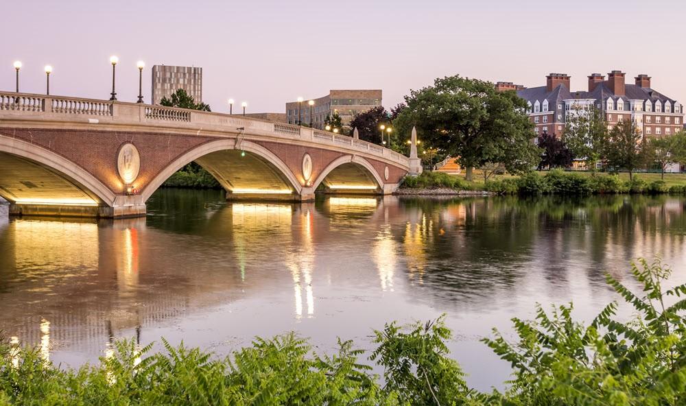 An arched bridge in Cambridge Massachusetts