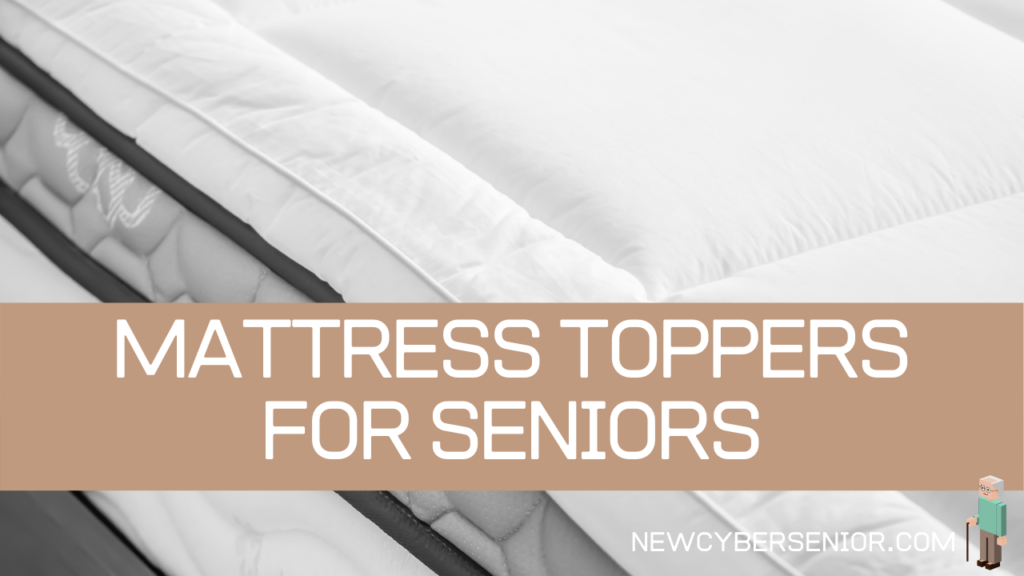 A white mattress in bright light with a mattress topper