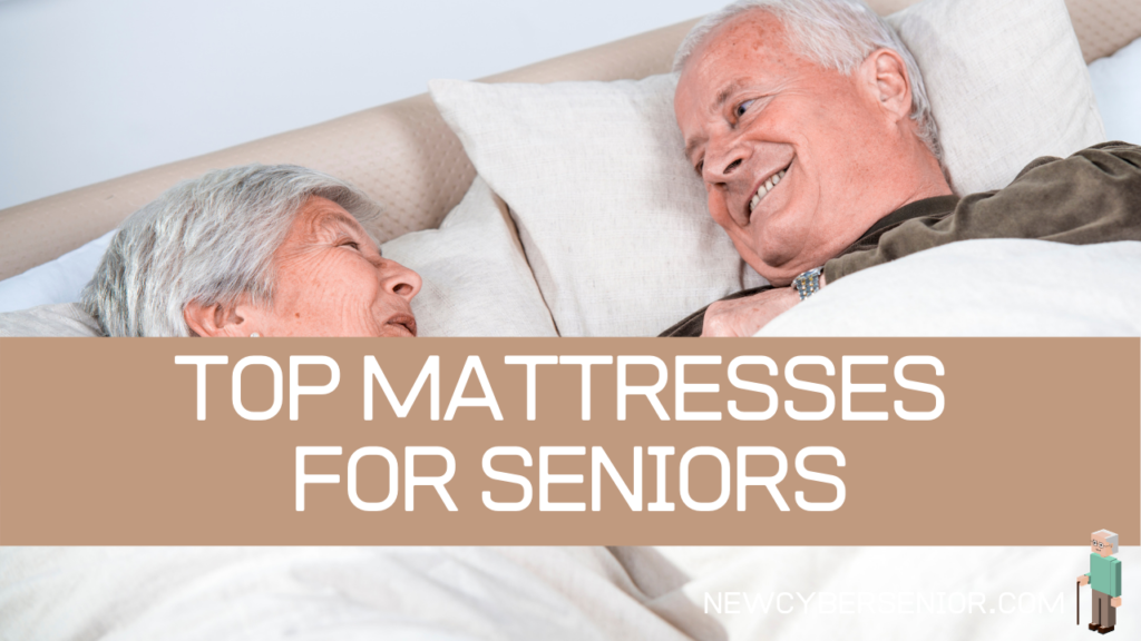 Two seniors in bed lying down