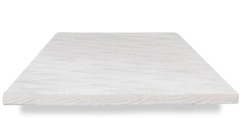 nest bedding mattress topper with a light textured design on white background