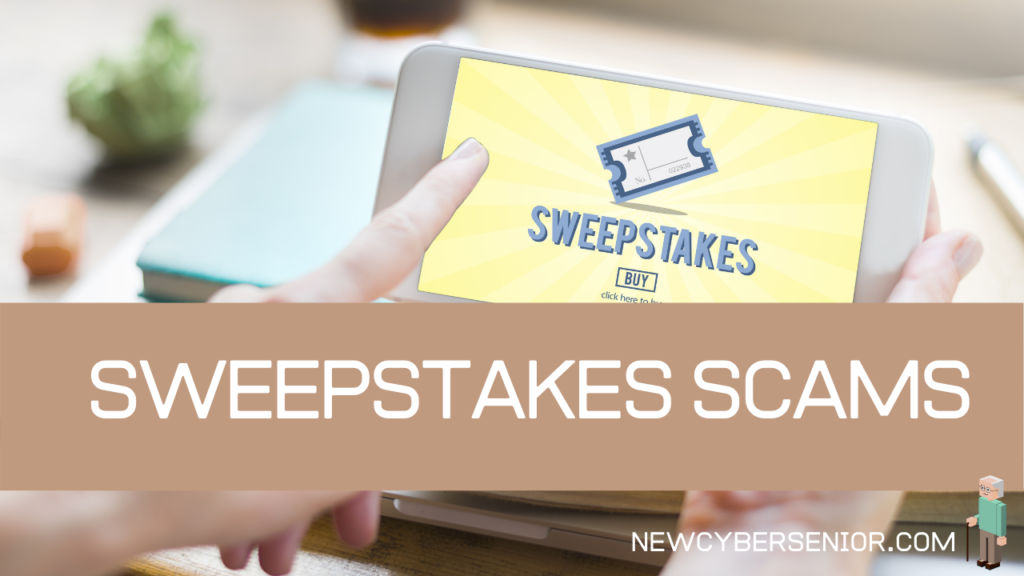 Someone using a tablet looking at sweepstakes