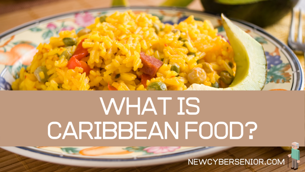 A Caribbean meal called Arroz con Gandules on a plate